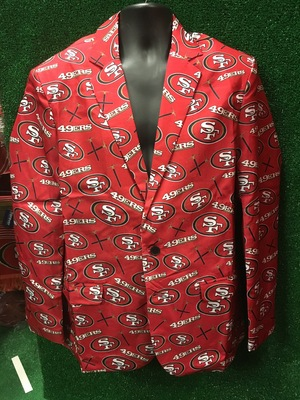 NFL SF 49ers Repeat Logo Ugly Business Jacket